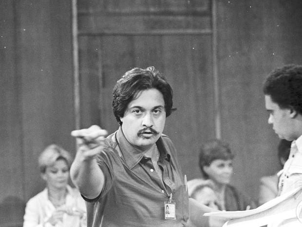 Roberto talma durante a gravação da novela Os Gigantes em 1980 (Foto: CEDOC / TVGLOBO)