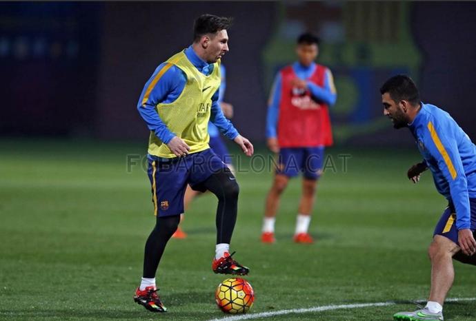 Treino do Barcelona, Messi (Foto: Miguel Ruiz / Barcelona)