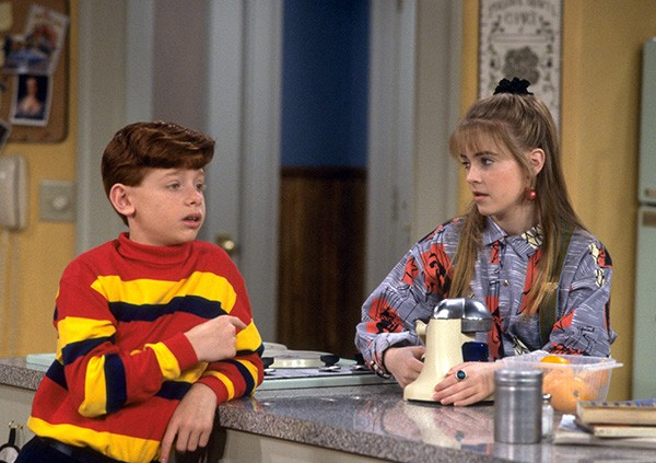 Jason Zimbler e Joan Hart na série 'Clarissa' (Foto: Reprodução)