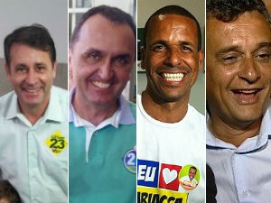 Prefeitos eleitos da Grande Vitória (Foto: Arte / G1)