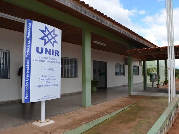 Campus da Unir em Cacoal suspendeu as aulas temporariamente (Foto: Rogério Aderbal/G1)