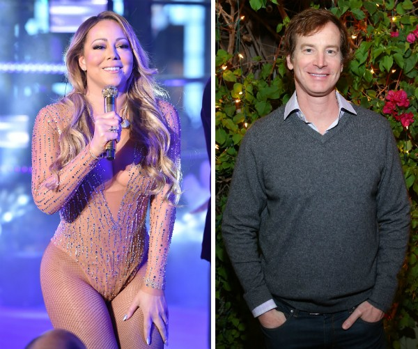 A cantora Mariah Carey e o ator Rob Huebel (Foto: Getty Images)