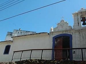 Capela de Santa Luzia, em Vitória, é do século XVI (Foto: Paula Barreto / PMV)