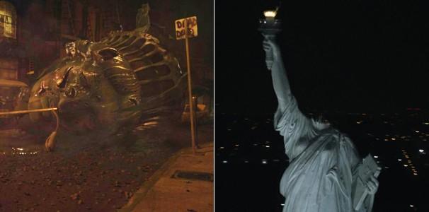 A cabeça da Estátua da Liberdade mostrada no filme é cerca de 50% maior do que seu tamanho real (Foto: Divulgação/Reprodução)