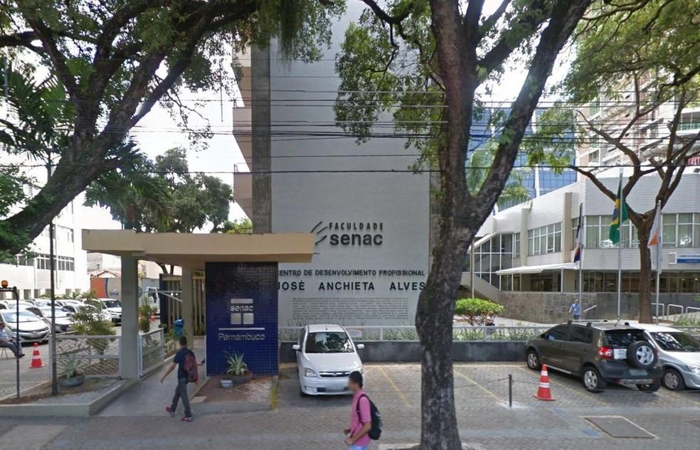 Faculdade Senac oferece 320 vagas para cinco cursos de graduação (Foto: Reprodução/Google Street View)