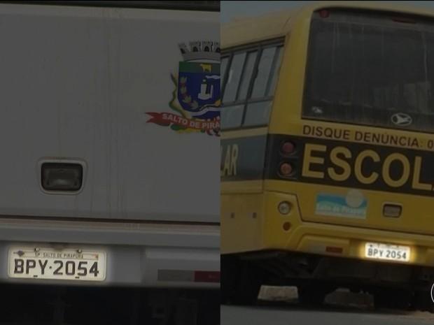 Detalhes comprovam que ônibus foram modificados (Foto: Reprodução/TV Globo)