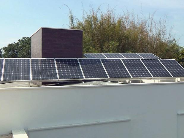 Sistema faz moradores produzirem a própria energia em Andradas (Foto: Reprodução EPTV)