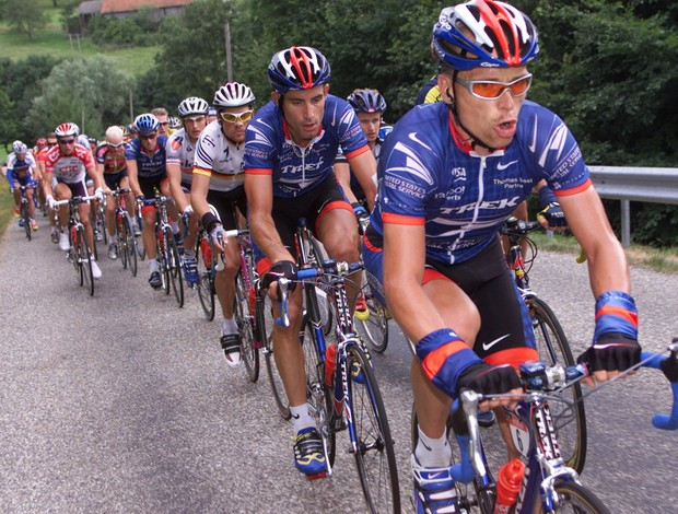 ciclismo Steffen Kjaergaard  e lance armstrong (Foto: Agência Getty Images)