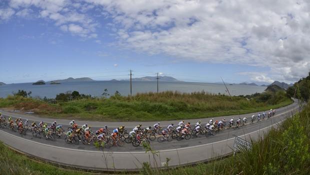 Primeira etapa Tour do Rio ciclismo Rio Angra dos Reis (Foto: Hudson Malta)