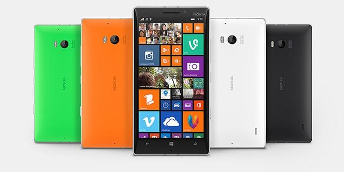 Lumia 930 vem em quatro cores diferentes na traseira (Foto: Divulgação) (Foto: Lumia 930 vem em quatro cores diferentes na traseira (Foto: Divulgação))