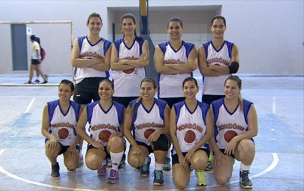 Seleção Rondoniense de Basquete feminino de 2001  (Foto: Globo Esporte)