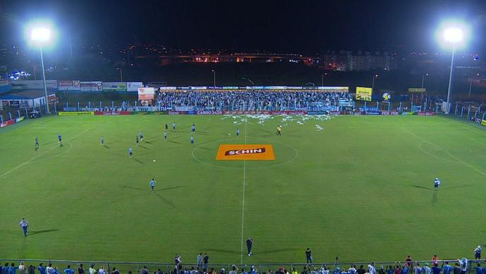 Grêmio Novo Hamburgo Campeonato Gaúcho Estádio do Vale (Foto: Reprodução/RBS TV)