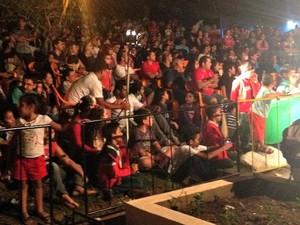 Cerca de 2 mil pessoas participam do FestCine Amazônia em Guajará-Mirim (Foto: Dayanne Saldanha/G1)