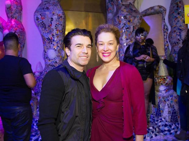 Claudia Raia com o namorado, Jarbas Homem de Mello, em festa em São Paulo (Foto: Marcelo Brammer/ Ag. News)