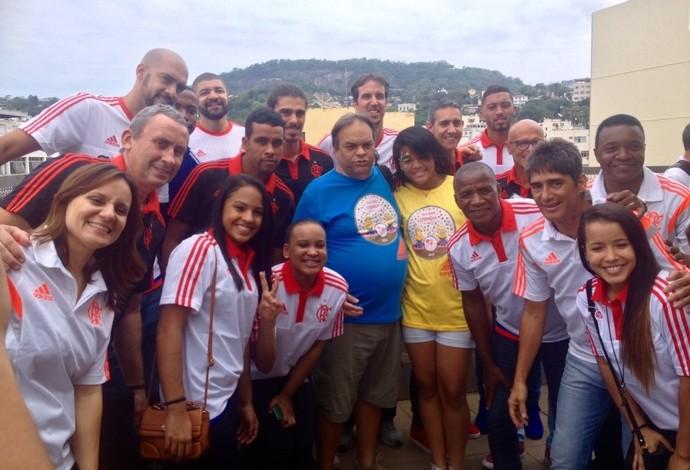 Visita atletas flamengo inca (Foto: Divulgação/Flamengo)