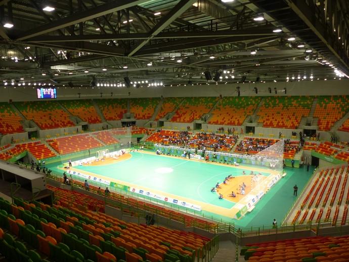 Arena do Futuro, Parque Olímpico do Rio 2016, evento-teste do handebol (Foto: Thierry Gozzer)