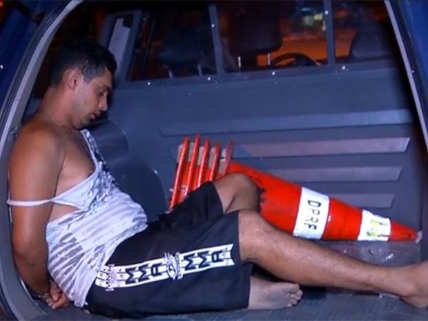 José Ronaldo Costa Dantas foi preso pela PRF (Foto: Reprodução/Inter TV Cabugi)
