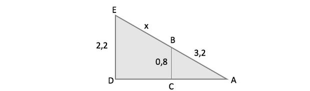 Esquema do triângulo (Foto: Reprodução/ENEM)