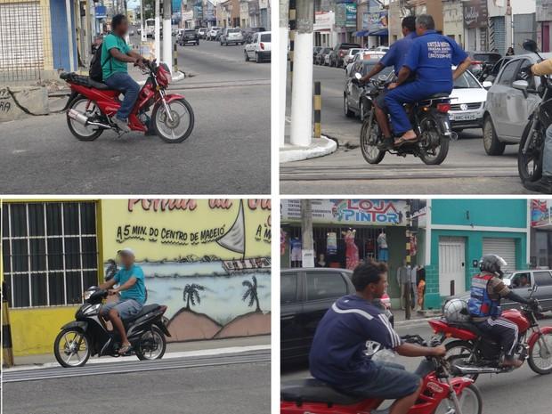 A maioria dos condutores de cinquentinhas não utiliza equipamento de segurança e desrespeita leis de trânsito. (Foto: Fabiana De Mutiis/G1)