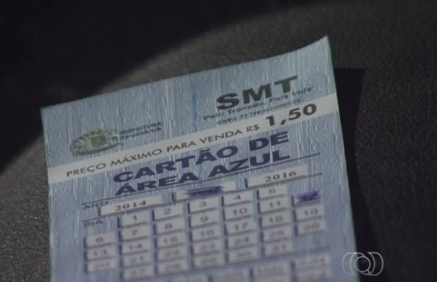 Motoristas reclamam de reajuste em bilhete de área azul em Goiânia, Goiás (Foto: Reprodução/TV Anhanguera)