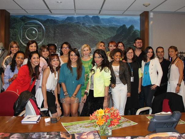 Encontro de Beth Filepeck com blogueiras de todo o Brasil (Foto: Amanda Freitas / TV Globo)