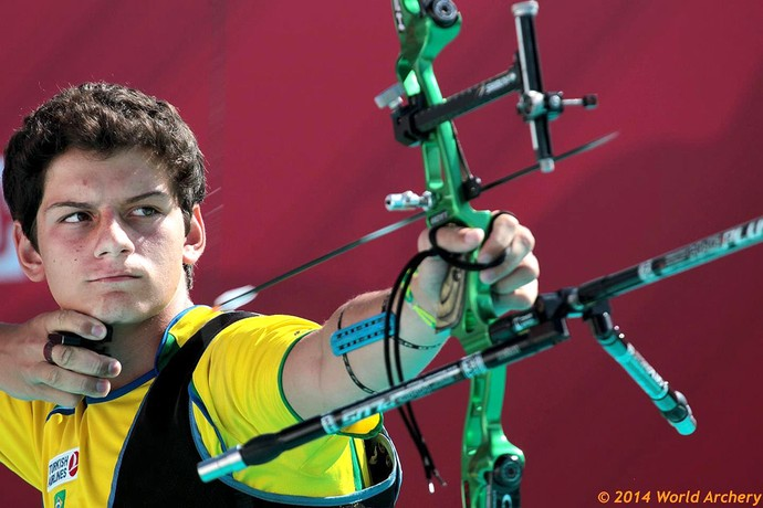 Marcus Vinicius , Arco Flecha (Foto: Reprodução / Facebook World Archery)