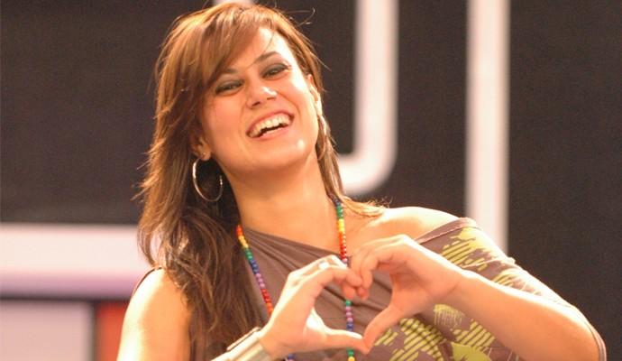 Ex-sister Ana Angélica Morango na eliminação do BIg Brother Brasil 10 (Foto: TV Globo / Frederico Rozario)