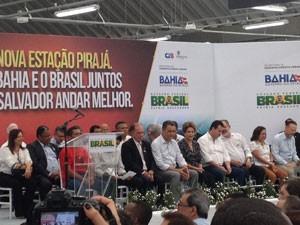 Dilma entrega estação do metrô de Pirajá, em Salvador (Foto: Maiana Belo/G1 BA)