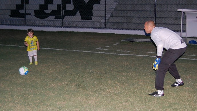 Éder, goleiro do Treze (Foto: Silas Batista / GloboEsporte.com)