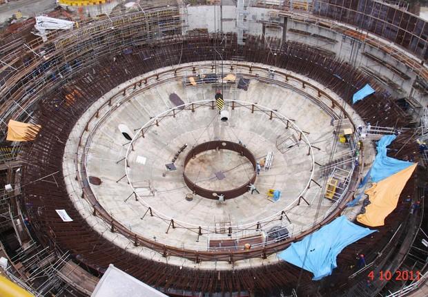 Construção da Usina Angra 3 da Eletronuclear (Foto: Divulgação)