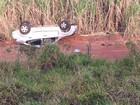 Capotamento de carro em ribanceira mata duas estudantes em Flora Rica