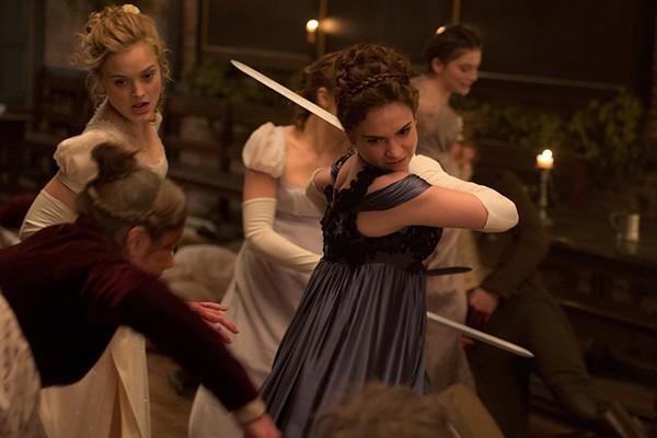 Lydia Bennet, Kitty Bennet e Mary Bennet em Orgulho e Preconceito e Zumbis (Foto: Divulgação)