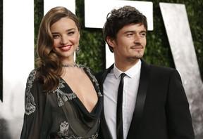 Orlando Bloom e Amanda Kerr em festa pós-Oscar nos EUA (Foto: Danny Moloshok/ Reuters)