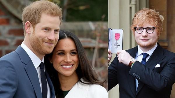 Príncipe Harry e Meghan Markle / Ed Sheeran (Foto: Getty Images)