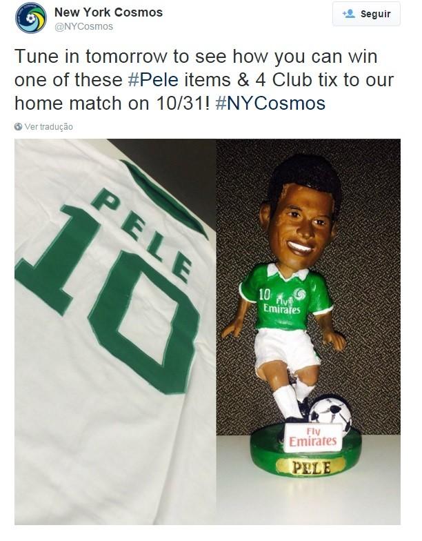 Cosmos promove sorteio de boneco de Pelé