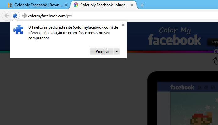 Instalando extensão no Firefox (Foto: Reprodução/Helito Bijora)