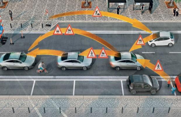 """Inovação 26: Comunicação """"Car 2 Car"""" (Foto: Autoesporte)"""