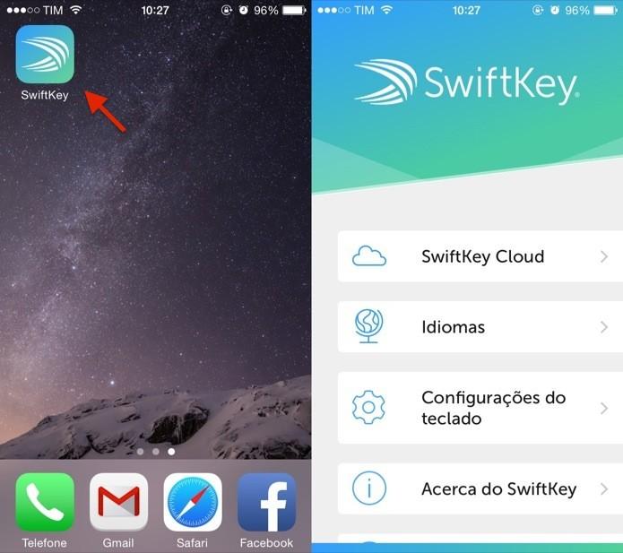 Abra o aplicativo SwiftKey para configurar o teclado (Foto: Reprodução/Helito Bijora)