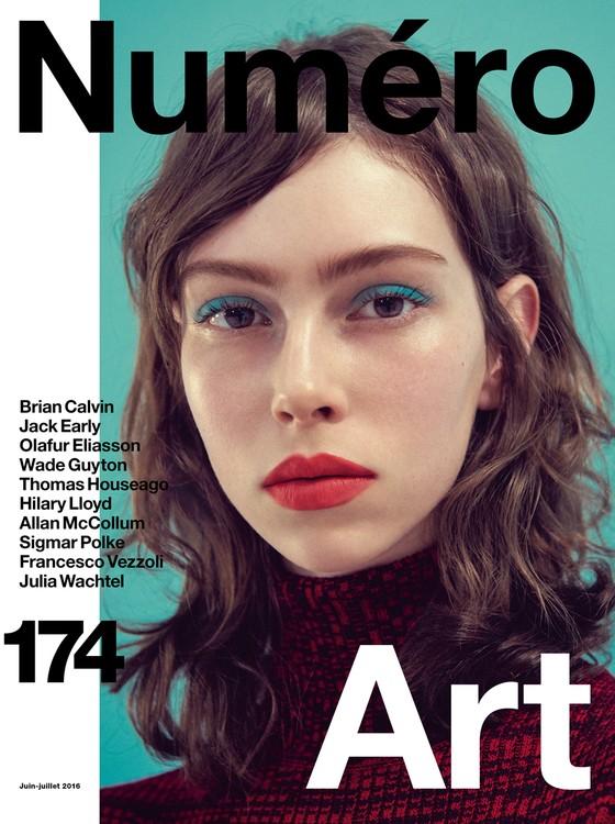 Lorena Maraschi foi capa da revista Número: o posto é termômetro de sucesso no mundo fashion (Foto: Reprodução)