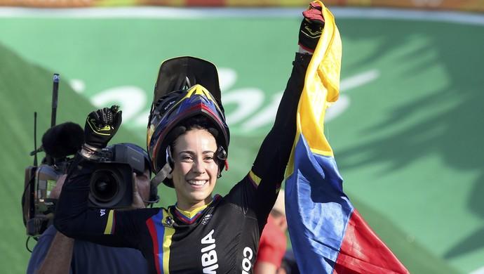 Mariana Pajon, Colômbia, ciclismo BMX (Foto: Reuters)
