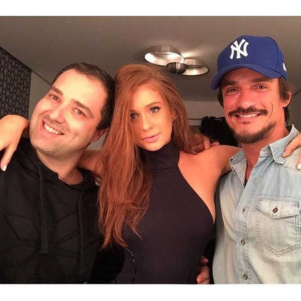 Rodrigo Grunfeld, Marina Ruy Barbosa e Lavoisier (Foto: Reprodução/Instagram)