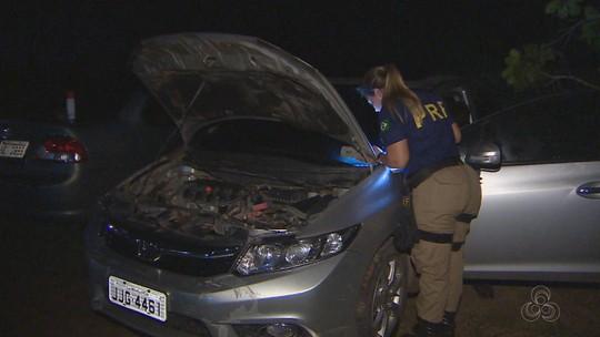 Veículo roubado com placa clonada de Goiás é apreendido em Macapá