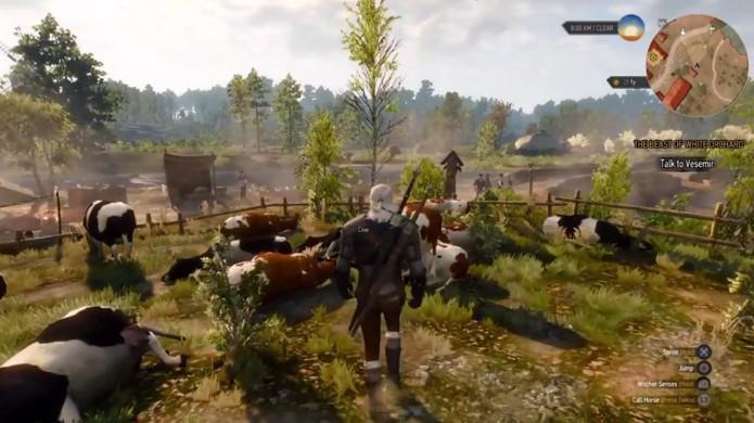Fature uma grana alta em The Witcher 3 executando dezenas de vacas (Foto: Reprodução/YouTube)