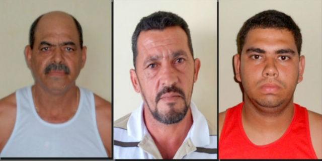 Egnaldo Veiria, Genival de Almeida e Breno Vieira foram presos em Batalha. (Foto: Divulgação/Polícia Civil)