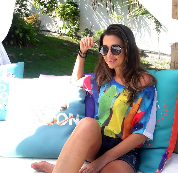 Simone curte as férias nas praias de  Porto Seguro -BA (Foto: Arquivo Pessoal)