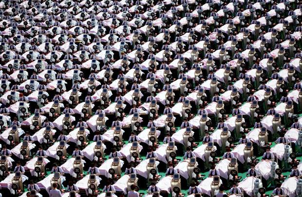Grupo alcançou um novo recorde do Guinness (Foto: Reuters)