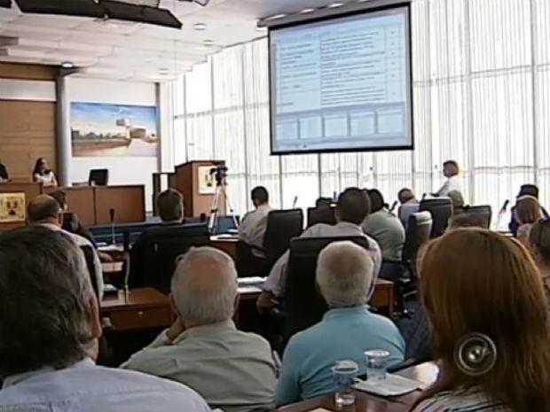 Terceira audiência para revisão do Plano Diretor de Sorocaba foi realizada nesta quarta-feira (19) (Foto: Reprodução/TV Tem)