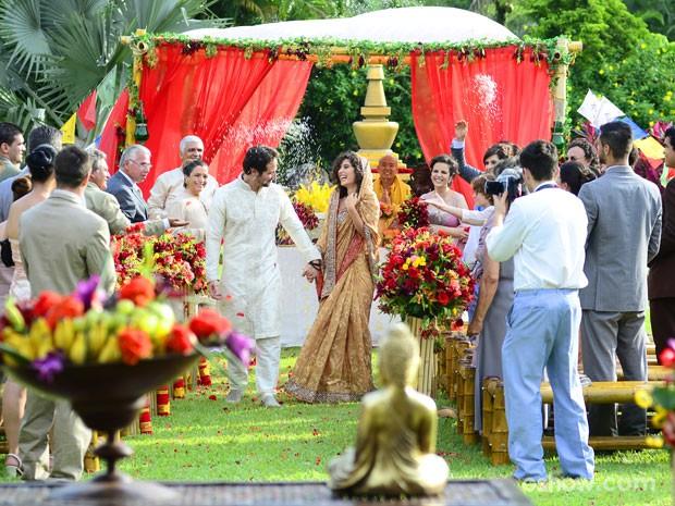Veja detalhes da decoração do casamento de Juliana e Fernando (Foto: Ellen Soares / TV Globo)
