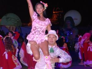 Sedução Boto Cor de Rosa na festa de 2008 (Foto: Zé Rodrigues/TV Tapajós)