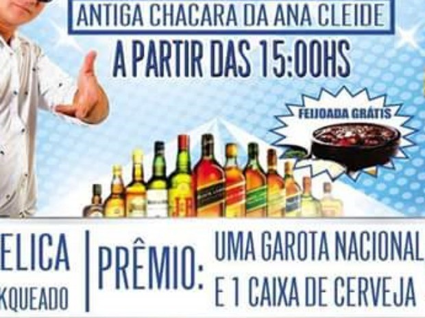 Evento anunciava bingo de uma mulher na região Cariri, no interior do Ceará (Foto: Reprodução)
